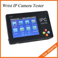 Wholesale CCTV Tester Portable Inch TFT LCD Touch Screen Wrist Multifunction IP Camera Tester Support ONVIF PTZ WIFI IPC