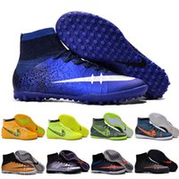 baseball cleats men - 2016 High Top Youth Soccer Shoes Elastico Superfly IC Indoor Men s Soccer Boots Cleats Laser original Men shoes Football Boost Shoes