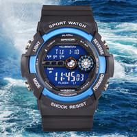 auto fitness - 2016 SANDA Sport Brand Watch Men LED Military Digital Wristwatches Fitness Outdoor sport watches for men Waterproof Relogio Masculino