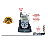barbeque grill thermometer - New LCD Instant Read Wireless Remote Control Digital Cooking Food Meat Kitchen Steak BBQ Barbeque Thermometer Food Probe