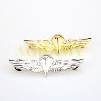airforce badges - US Army Airforce Paratrooper Wings Insignia Badge Gold Silver Navy Marines Metal Military Badge Army Related