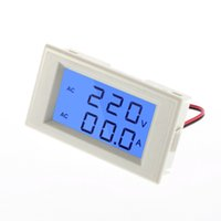Wholesale LCD Blue Backlight Volt Amp Dual display Meter AC100 V A in1 Voltmeter Ammeter Current Transformers Newest Hot Search