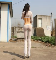 Wholesale Real Photo Hot new Ultra thin transparent tight slim hip sexy milk light silky female trousers elastic black pants