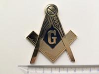 auto craft - 25 Metal Crafts Souvenir Lodges Badge Emblem Free Masons Masonic Mason Hat Freemasonry Car Emblem Auto Logo