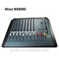 band graphics - New PMX808D Professional Audio Mixer Channels Mezcladora De DJ Double Band Graphic with factory price
