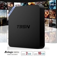 Wholesale T95N Android TV Box GB GB Amlogic S905X Quad Core Android Kodi Fully Loaded Wifi GHz K K Smart Media Player