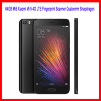 Wholesale 64GB Mi5 Xiaomi Mi G LTE Fingerprint Scanner Qualcomm Snapdragon inch Android Marshmallow MP Camera Smartphone