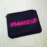 Wholesale Cosmetic bag good quality makeup bag leather bag ladies cosmetic bag with zipper vintage style with black cosmetic bag