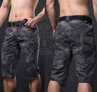 airsoft camo pants - NewTactical Shorts Mens Capri Pants Cotton Polyester Outdoor Camo Cropped Fashion Hunting Clothing Airsoft Shooting Paintball Tour Trousers