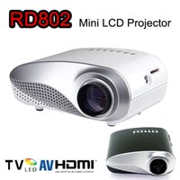 av homes sale - Hot Sale RD802 Portable Mini Projector Home Theater LED LCD Projector P With HDMI USB SD VGA AV Audio Out Input