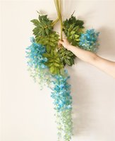 New Year bean homes - 240p Artificial Wisteria Vines CM cm silk wisteria flower Rattans Bean Flowers for wedding Xmas Party Home Decoratove Vine flowers