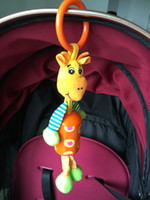 Wholesale Cute Baby Hanging Toy Cartoon giraffe Rattle Tinkle Hand Bell Multifunctional Plush Stroller Toys
