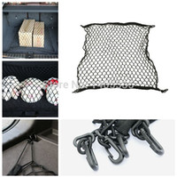 auto trunk organizer - Car boot string bag Elastic Nylon Car Rear Cargo Trunk Storage Organizer Net with SUV auto accessories H032
