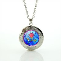 accessories for lockers - The beautiful flower picture locker necklace jewelry accessories for children and kids HH153