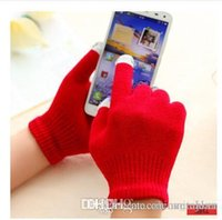 Wholesale Ladies Touch Screen Gloves Winter warm keeping and Game Playing Gloves New Designs Women Gloves