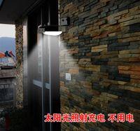 Wholesale 25pcs Waterproof Garden Wall Lamp LED Solar Power Sound Sensor Detector Light LED Lamps DHL