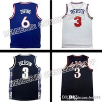 allen iverson clothing - Allen Iverson Jersey erving Double Stitched Throwback Basketball Jersey gym clothing gym clothing