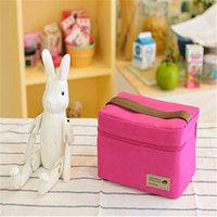 baby lunch bag - Multifunction lunch bag Oxford cloth Foil thermal bag pink lunch bags for women blue green grey baby bottle bag kids picnic bag