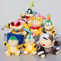 Unisex mario plush - 7pcs set Super Mario Bros Plush Doll Stuffed Toy Wendy LARRY IGGY Ludwig Roy Morton Lemmy Koopa cm