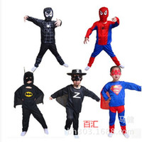 Wholesale Halloween Performance Serve Children Superman Bat Suit Highest Quality Hero Spider Chivalrous Clothing Neutral Men And Women Can Be T