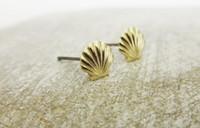 ariel jewelry - 20pairs Gold Silver Sea Shell Earrings Seashell Stud Earrings Beach Conch Earrings Nautical Ariel Mermaid Studs Jewelry S38