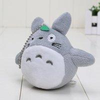 Wholesale 200pcs cm Japanese Anime Gray My Neighbor Totoro Plush Keychain Dolls Toys