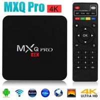 Wholesale New MXQ Pro Android TV Box Amlogic S905x Chipset Kodi17 Full Loaded Lollipop OS Quad Core G G K Google Streaming Media Players DHL