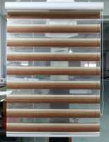 Wholesale 2015 New Custom Made Translucent Roller Zebra Blinds in Brown Polyester Linen Window Curtains for Living Room Colors G13