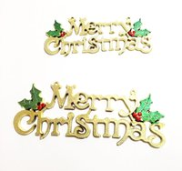 big decorative letters - Merry Christmas Christmas suppliesHappy Christ Christmas big letter decorative plates Christmas letter ornaments Christmas tree pendant gold