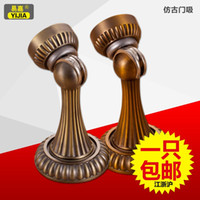 Wholesale Yi Jia luxury European antique bronze yellow bronze gate interior doors door touch magnetic windproof rust