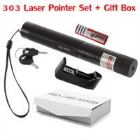 battery powered gifts - High Powered Laser Green Laser Pointer Pen Adjustable Focus Burning Match with Star Pattern Filter Battery Charger Safe Key Gift
