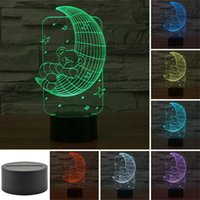 alien table - Outdoor3D children s bedroom aliens LED lighting moon and stars in the Milky Way illuminate the Bear sleeping table lamp