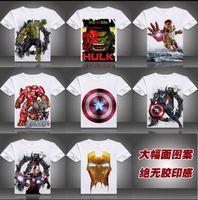 women's polo shirts - The avengers alliance T shirt Men s and women s short sleeve summer wear iron man hulk captain America men s t shirts