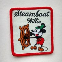 bags trousers - Mickey Mouse Sailor Walt Steamboat Willie Collection Sew On Cartoon Patch Shirt Trousers Vest Coat Skirt Bag Kids Gift Baby Decoration