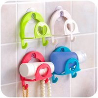 Wholesale Kitchen Tools Multifunction Supporter Suck on the Wall Double Pothook Commodity Shelf For Bathroom