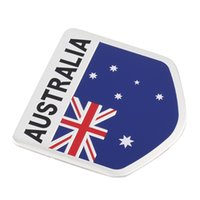 australian flag stickers - 2016 New Car Accessories Stickers Metal D Australian Flag Metal Car Badge Car Emblem All Wheel Drive Auto Sticker Hot Selling