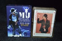 Wholesale set paper collective super star MICHAEL JACKSON poker card celebrity playing cards
