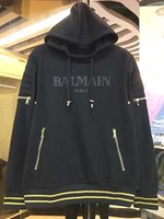 Wholesale New Autumn high quality brand biker jeans balmain men s sweatshirts casual hoodies