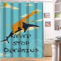 best shower curtains - Best gift Giraffe Riding Shark Never Stop Dreaming Shower Curtain inch by inch Custom More size