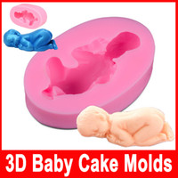 Modelling Tools Silicone FDA Cute And Lovely Baby Boy And little Baby Shape Fondant Cake Molds Tools Decorating Cooking Tools