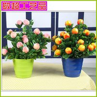 Wholesale Factory sales Cheap home decoration simulation large red apple fruit ornaments simulation small bonsai lover
