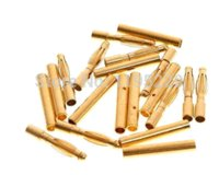 Wholesale 20pairs mm mm Banana Gold Bullet Connector DIY RC Battery ESC Motor Plug with Gift Heat Shrink