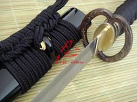 Wholesale hand made spring steel Jp samurai katana musahi dragon tsuba O kissaki sharpend sword