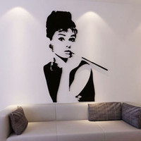 audrey hepburn vinyl - Audrey Hepburn Acrylic d three dimensional wall stickers living room sofa TV background wall decoration stickers figures
