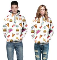 organic desserts - New Fashion Autumn Winter Style D fashion Fruit desserts Printed Couple Hoodies Unisex couples Sweatshirt