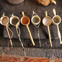Wholesale handmade natural bamboo tea strainer infuser filter infuser tea tools colander gadgets Sieve for tea brewing tea pet