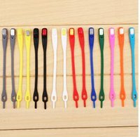 aa cleaning - 1035 fashion personality cool color shoelace lazy adjustable elastic silicone based Free and easy to clean shoelace