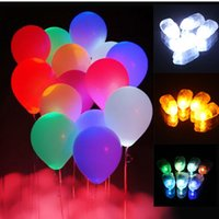 Wholesale Colorful LED Balloon Lights Lamps Paper Floral Lanterns Lamp For Xmas Wedding Birthday Celebration Party Decoration
