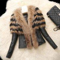 Precio de Leather jackets-Mujeres abrigo de piel de abrigo caliente Brown Negro de algodón de abrigo de algodón mujeres Parka outwear chaqueta para mujer
