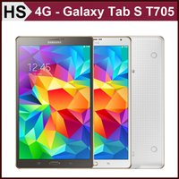 Wholesale Original Samsung Galaxy Tab S quot T705 Octa Core GB RAM GB ROM MP Camera Android WIFI G LTE Phone Call Tablet DHL